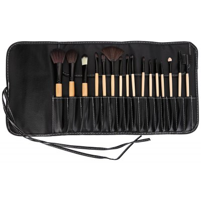16pcs Makeup Powder Brushes with Black Storage Bag