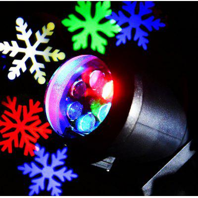 Lightme 110 - 240V 6W LED Waterproof Colorful Snowflake Light