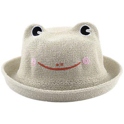 Cute Breathable Frog Candy Color Frog Straw Hat