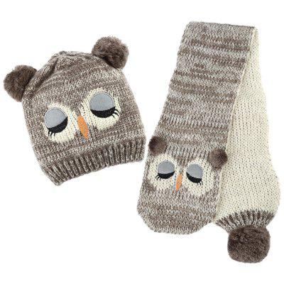 Children Owl Pom-pom Hat with ScarfBoys Clothing Accessories<br>Children Owl Pom-pom Hat with Scarf<br><br>Gender: Unisex<br>Hat Height?cm ): 21<br>Hat Width?cm ): 17<br>Item Type: Baby Hat<br>Material: Acrylic / Wool<br>Package Contents: 1 x Hat, 1 x Scarf<br>Package size (L x W x H): 29.00 x 20.00 x 5.00 cm / 11.42 x 7.87 x 1.97 inches<br>Package weight: 0.1820 kg<br>Pattern: Animal<br>Product size (L x W x H): 28.00 x 19.00 x 4.00 cm / 11.02 x 7.48 x 1.57 inches<br>Product weight: 0.1710 kg<br>Scarf Size ( cm ): 120<br>Season: Winter