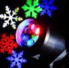 Lightme LED Colorful Snowflake Projecteur Lampe - NOIR