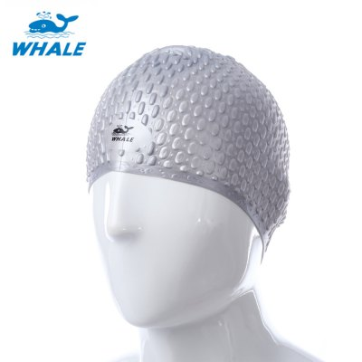 WHALE Unisex Swimming Cap Waterproof Elastic Silicone Hat