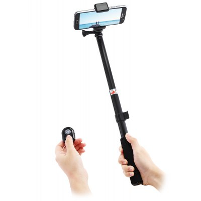 Folding Metal Selfie Stick Bluetooth Remote Camera Shutter