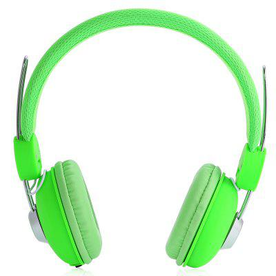 JKR 110 3.5MM Plug Wired HiFi Stereo Music Green Headphones Headset