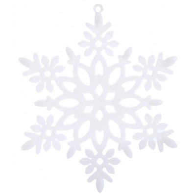Buy WHITE Christmas Snowflake Decorating Ornaments for $1.17 in GearBest store