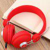 JKR 110 3.5MM Plug Wired HiFi Stereo Music Sound Isolating Headphones - RED