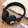 JKR 110 3.5MM Plug Wired HiFi Stereo Music Sound Canceling Headphones - BLACK