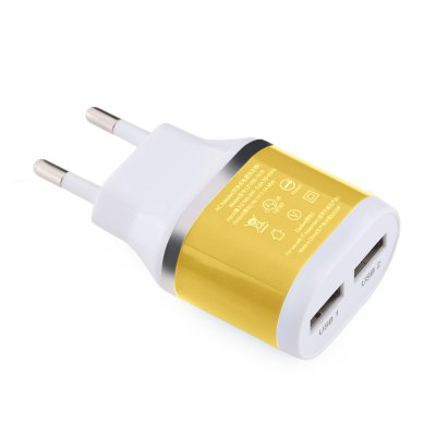 Dual USB Ports Universal Travel Wall Charge Plug