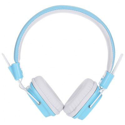 JKR 112 3.5MM Plug Wired Stereo HiFi Blue Headphones Headset