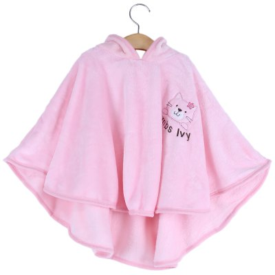 Chic Sleeveless Soft Pure Color Print Children Cloak