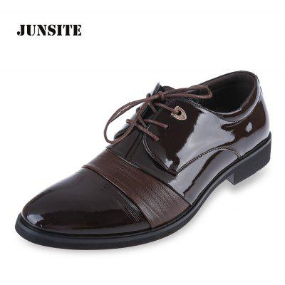 Junsite Gentleman Casual Pointed Toe Chaussures en cuir à lacets