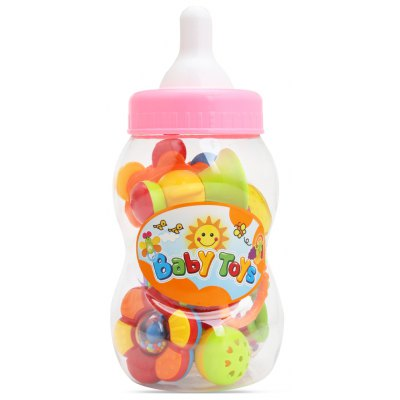SL94802 - 3 Baby Animal Hand Shake Bell Ring Rattle Toy Set