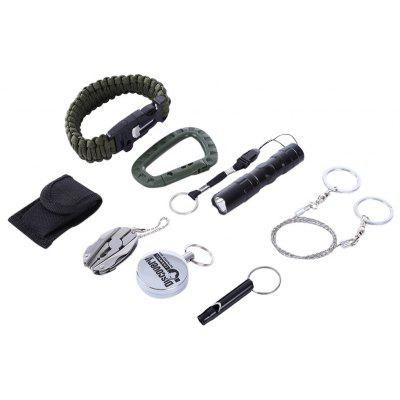 7 in 1 Outdoor Camping Hiking Travel Survival Tools Kit Set
