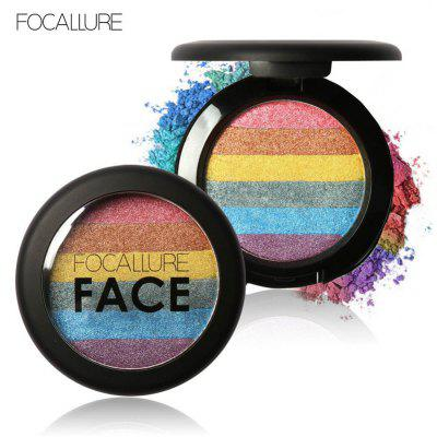 FOCALLURE Pintar de sombra de olhos Rainbow Highlighter Blusher