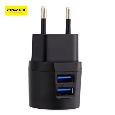 Awei C - 900 Double USB Charger Adapter Charging Cable Set