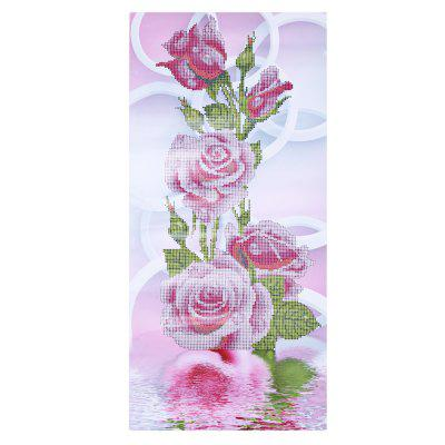 80 x 40cm Pink Rose 5D Embroidery Diamond Stitch Tool