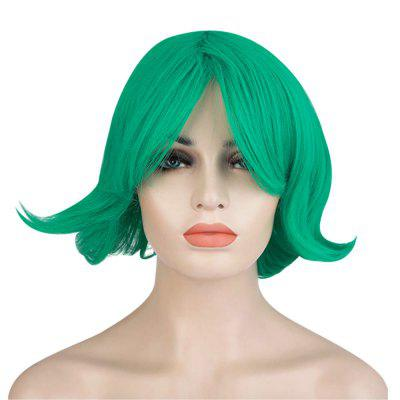 Short Anti-alice Green Wigs Full Bangs