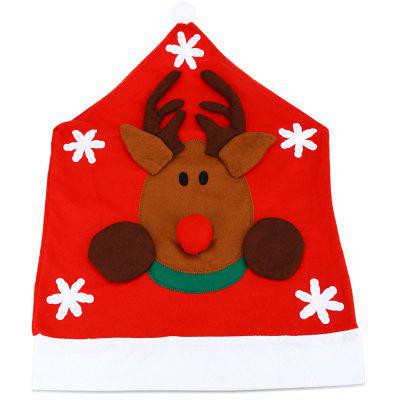 Santa Claus Snowman Hat Chair Cover
