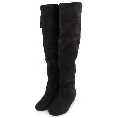 Pure Color Round Toe Ladies Knee BootsWomens Boots<br>Pure Color Round Toe Ladies Knee Boots<br><br>Boot Height: Knee-High<br>Boot Type: Western<br>Closure Type: Slip-On<br>Gender: For Women<br>Heel Type: Flat Heel<br>Outsole Material: Rubber<br>Package Contents: 1 x Pair of Women Knee Boots<br>Pattern Type: Solid<br>Season: Spring/Fall<br>Shoe Width: Medium(B/M)<br>Toe Shape: Round Toe<br>Upper Material: Suede<br>Weight: 0.4490kg