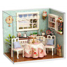 H - 008 DIY Wooden Doll House Miniature Box - Happy Kitchen