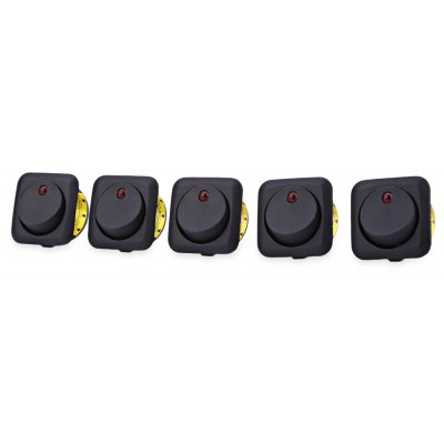 IZTOSS 5pcs 12V Auto LED runder Rocker Toggle Schalter