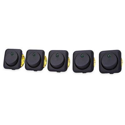 IZTOSS 5pcs 12V Car LED Round Rocker Toggle Switch