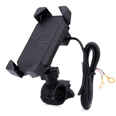 IZTOSS 2 in 1 Motorcycle Elastic Cellphone Stand Holder USB ChargerOther  Motorcycle Accessories<br>IZTOSS 2 in 1 Motorcycle Elastic Cellphone Stand Holder USB Charger<br><br>Package Contents: 1 x Cellphone Holder, 2 x Bracket, 2 x Tape, 5 x Installation Accessory<br>Package Size(L x W x H): 13.00 x 9.50 x 8.00 cm / 5.12 x 3.74 x 3.15 inches<br>Package weight: 0.298 kg<br>Product weight: 0.141 kg