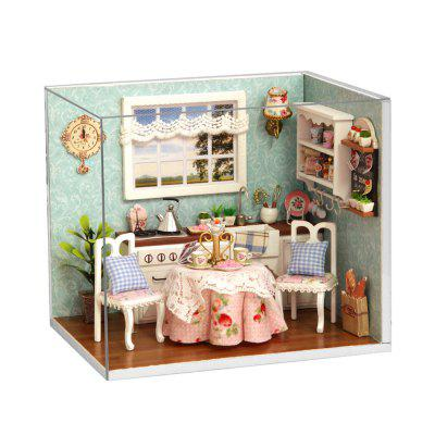 H - 008 DIY Wooden Dollhouse Miniature Box - Happy Kitchen