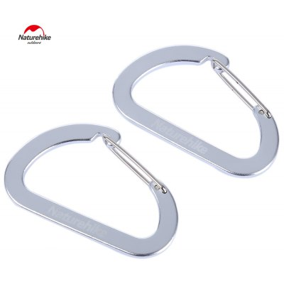 Naturehike 2pcs D-shape Multi-functional Carabiner Buckle
