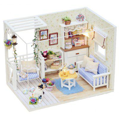 Buy COLORMIX H 013 DIY Wooden Doll House Miniature Box Cat Diary for $13.99 in GearBest store