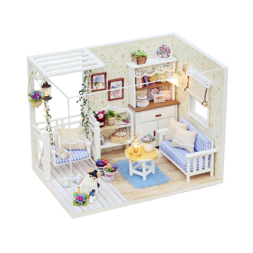 Buy H - 013 DIY Wooden Doll House Miniature Box Cat Diary COLORMIX