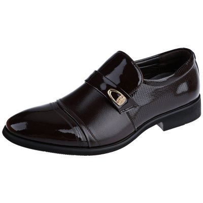 Pointe Toe Slip On Male Business Chaussures en cuir