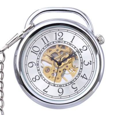 PC42 Retro Mechanical Hand Wind Pocket Watch