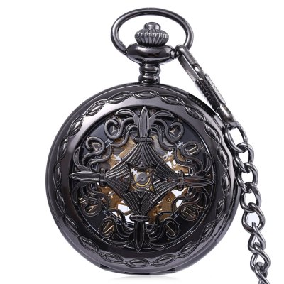 PC33 Retro Mechanical Hand Wind Pocket Watch