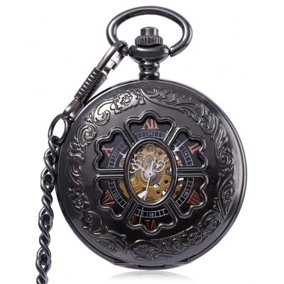 PC38 Antique Mechanical Hand Wind Pocket Watch