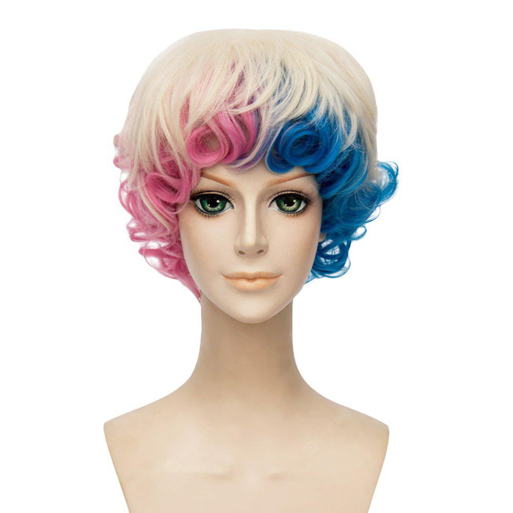 Curly Curly Gradient Mixed Colores Azul Rosa Pelucas