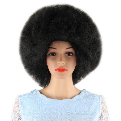 Short Black Wigs Inflated Fluffy Afro Hair
