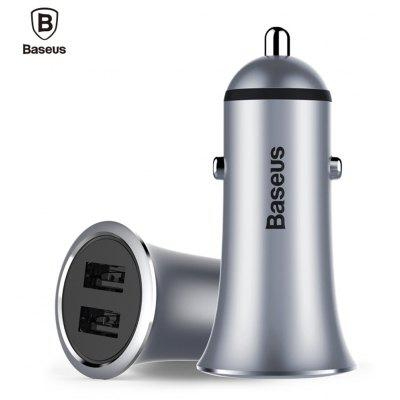 Buy Baseus Small Trumpet 3.1A Car Charger Dual USB Port, GRAY, Mobile Phones, Cell Phone Accessories, Chargers & Cables for $9.06 in GearBest store
