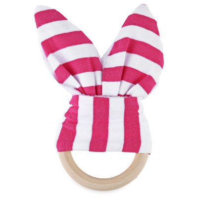 Babies Striped Wool Teething Ring Teether