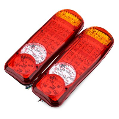 Pair of 12V Multifunctional Trailer Truck Stop Rear Tail LED Light