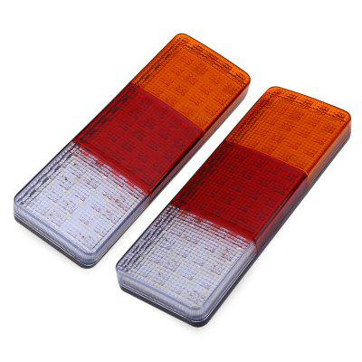 Pair of 12V Trailer 75 LEDs Waterproof Rear Tail Light