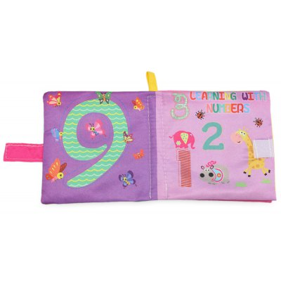 Buy LIGHT PURPLE Cartoon Baby English Learning Soft Cloth Book for $1.07 in GearBest store