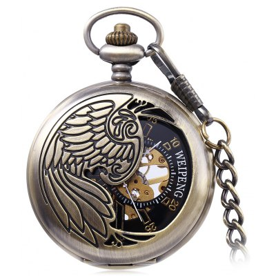 WEIPENG PC4 Retro Mechanical Hand Wind Pocket Watch