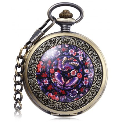PC27 Vintage Mechanical Hand Wind Pocket Watch