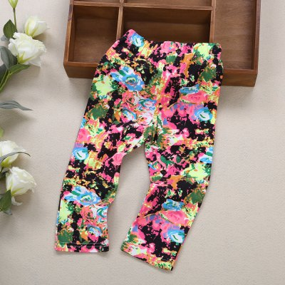 Infant Baby Girl Child Print Elastic Pants Leggings auro mesa christmas baby romper elk print jumpsuit cotton infant coverall outerwear baby boys hooded one piece clothes