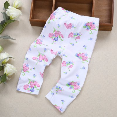 Infant Baby Girl Child Print Elastic Pants Leggings new baby girl polk dots hair head band accessory wrap for kids child turban knot headband hair ornaments bows headwear infant