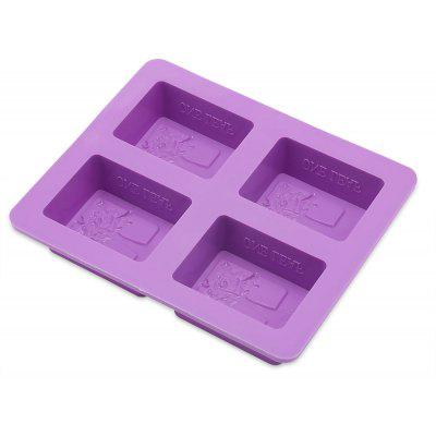Four Hole Rectangular DIY Silicone Tree Soap Mold