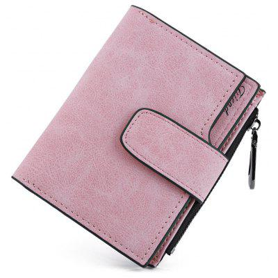 Guapabien Lady Solid Carta de letra de letra Snap Fastener Zipper Short Clutch Wallet