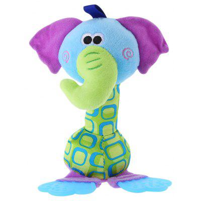 Cute Animal Bed Bell Rattle Developmental Toy for Baby