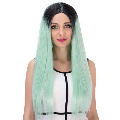 Women Harajuku Highlights Gradient Mint Green Full Wigs